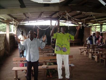 Gebet für Kinder in der Elfenbeinküste